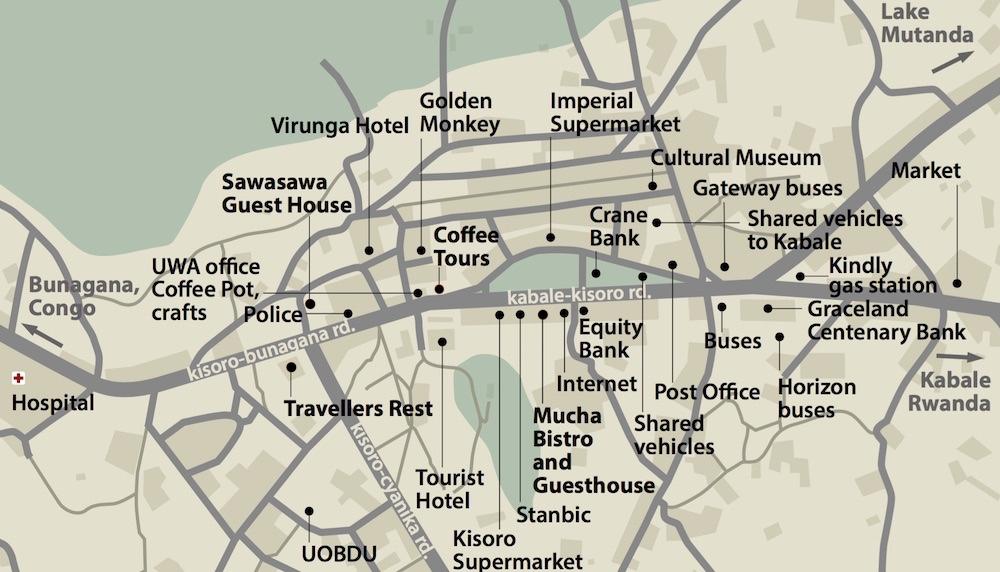Kisoro Town Map