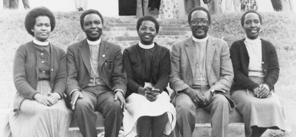 Canon Grace Ndyabahika ordained (first left)