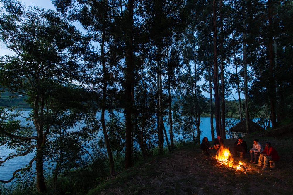 Katharina Lahner GH volunteer - campfire