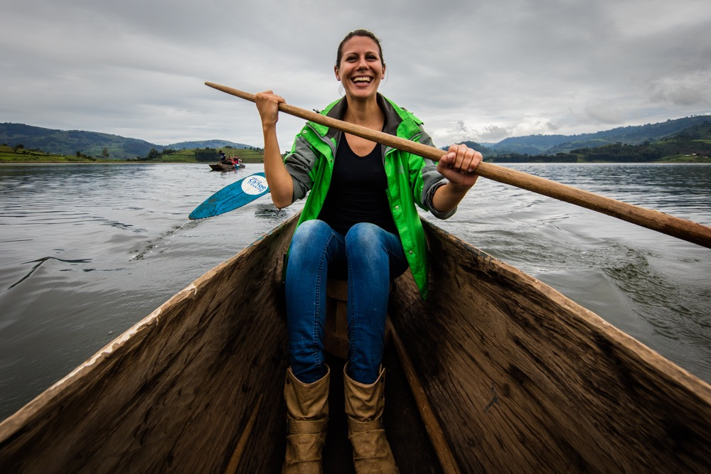 Katharina Lahner GH volunteer - canoeing