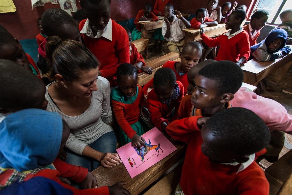 Katharina Lahner GH volunteer - classroom