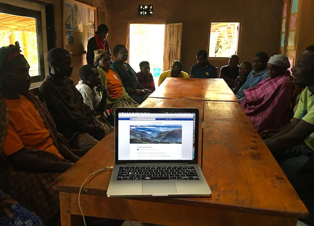meeting with Batwa Pygmies
