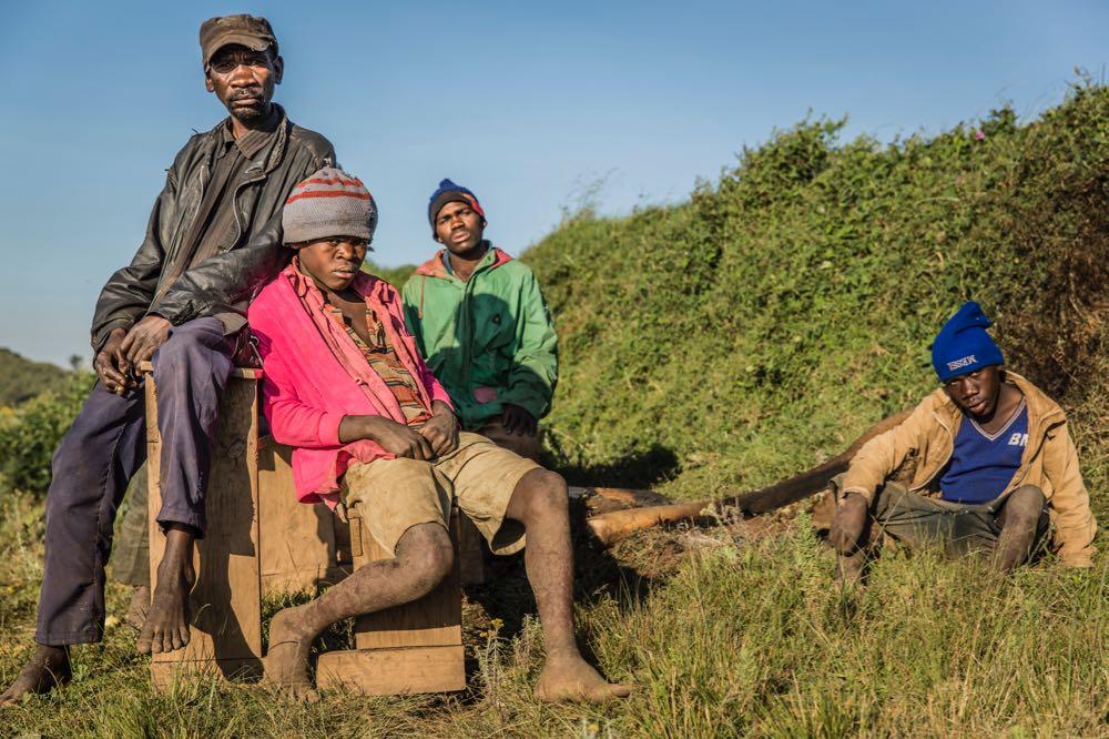 Batwa next to Echuya Forest Reserve; photo by Marcus Westberg