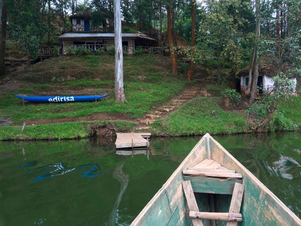Edirisa on Lake Bunyonyi, the Gorilla Highlands team base; photo by Miha Logar