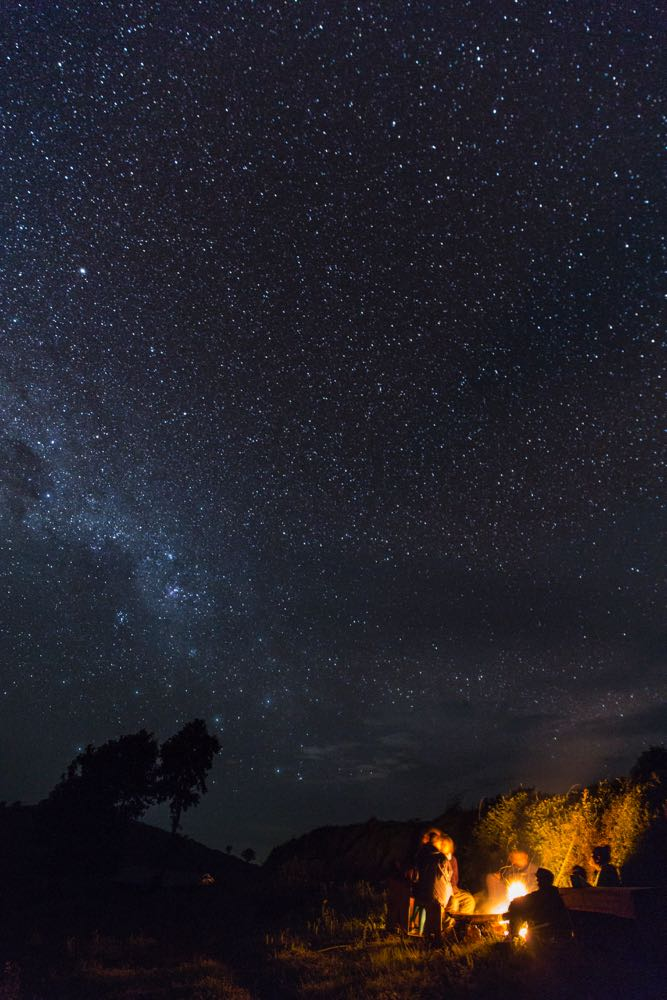 Cool night under the stars next to Echuya Forest; photo by Marcus Westberg