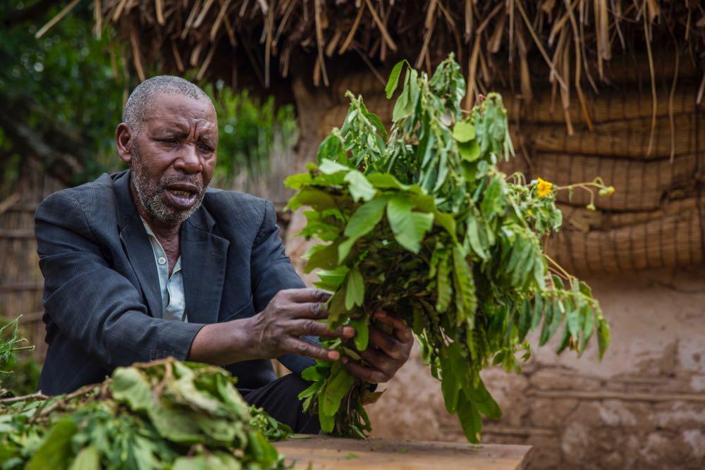 Jeremiah Byaharugo, traditional healer; photo by Marcus Westberg
