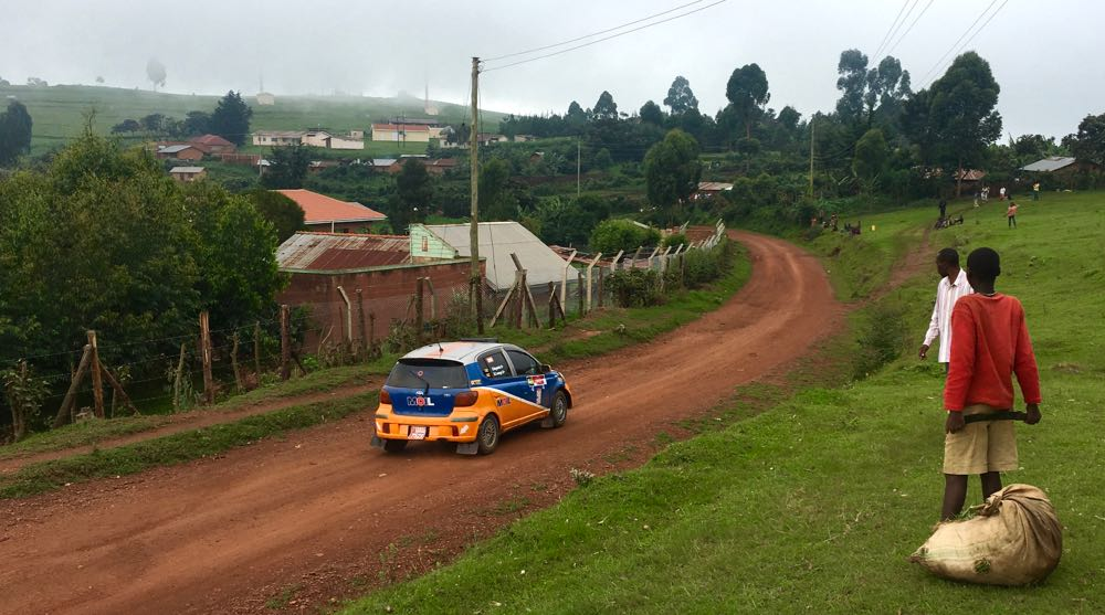 Rural life stopped during Gorillas in the Mist 2016 rally; photo by Miha Logar