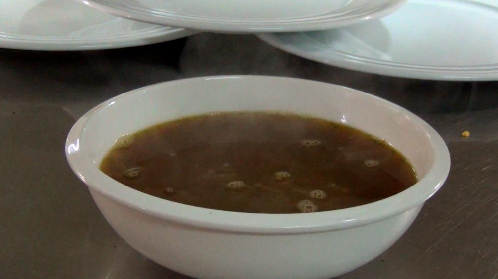 Spring onion soup; video still by Hank Rugg