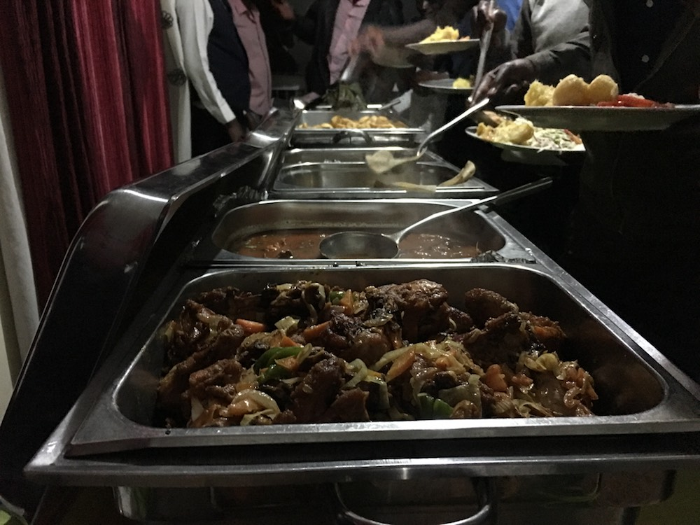 Followed by excellent buffet dinner sponsored by Kazinga Tours to celebrate with us their 10th anniversary