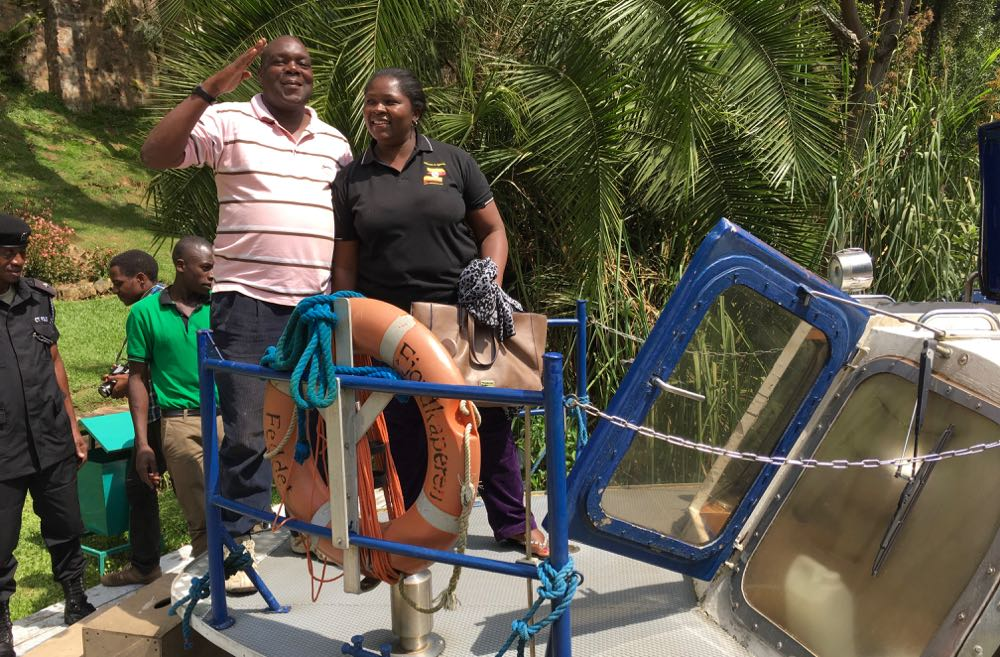 Herman Kalanzi, Bukedde TV, and Sylvia Kalembe, UTB; photo by Miha Logar