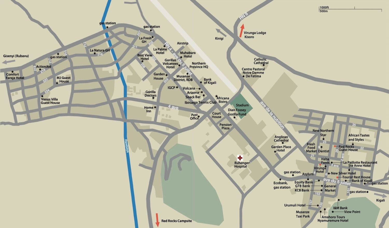 Map of Musanze Town