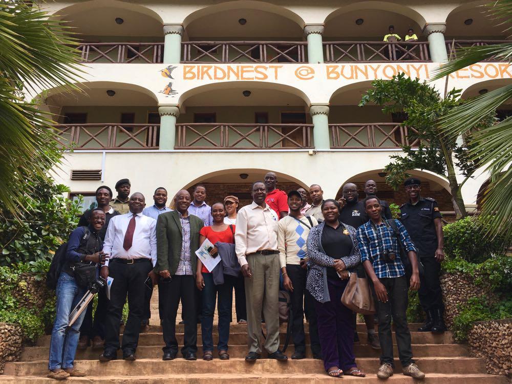 Rwandan tour operators and Ugandan hosts; photo by Miha Logar
