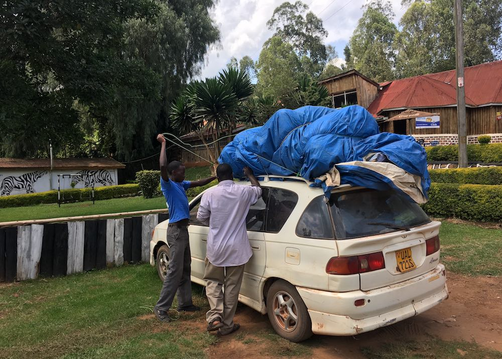 The gear got unloaded at Gad Inn In Kabale Town
