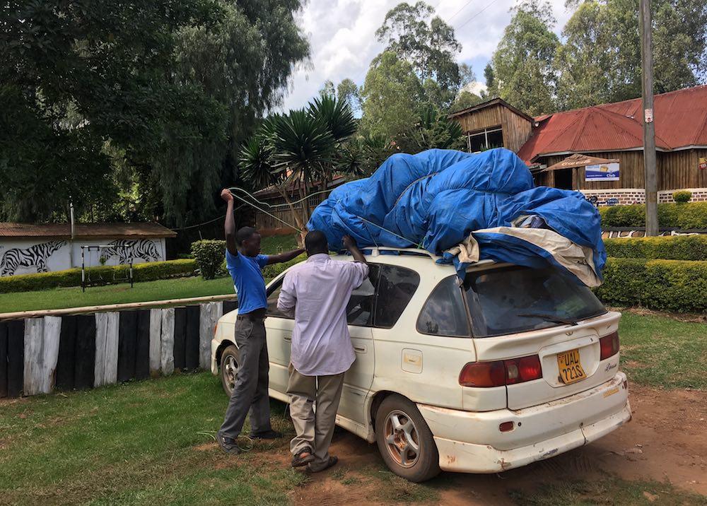 The gear got unloaded at Gad Inn In Kabale Town