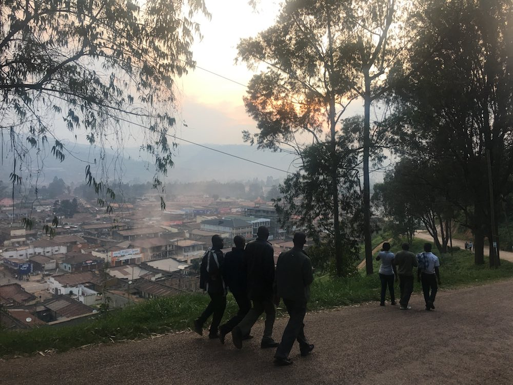 Their evening activity was a guided walk through Kabale Town