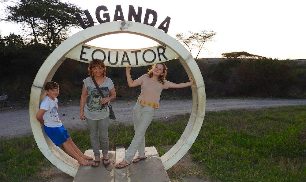 Uganda equator in Queen Elizabeth National Park; photo by Owen Bright