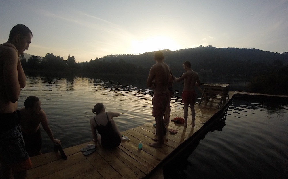Early morning swim at Edirisa; photo by Karlie Evans