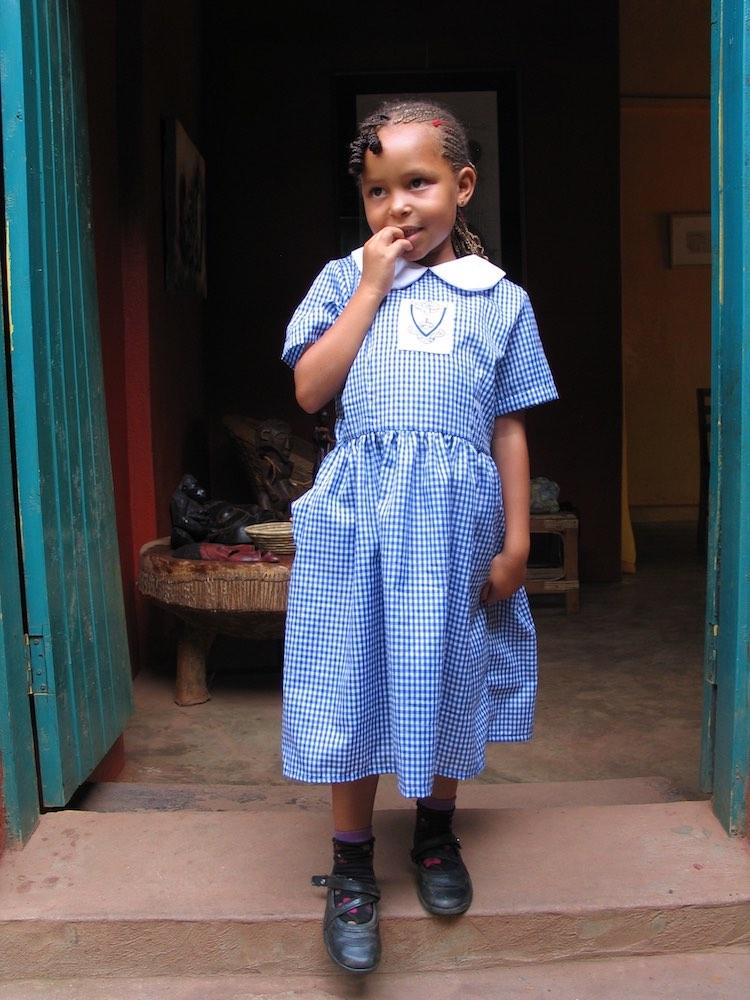 Enya in Kabale Preparatory School uniform
