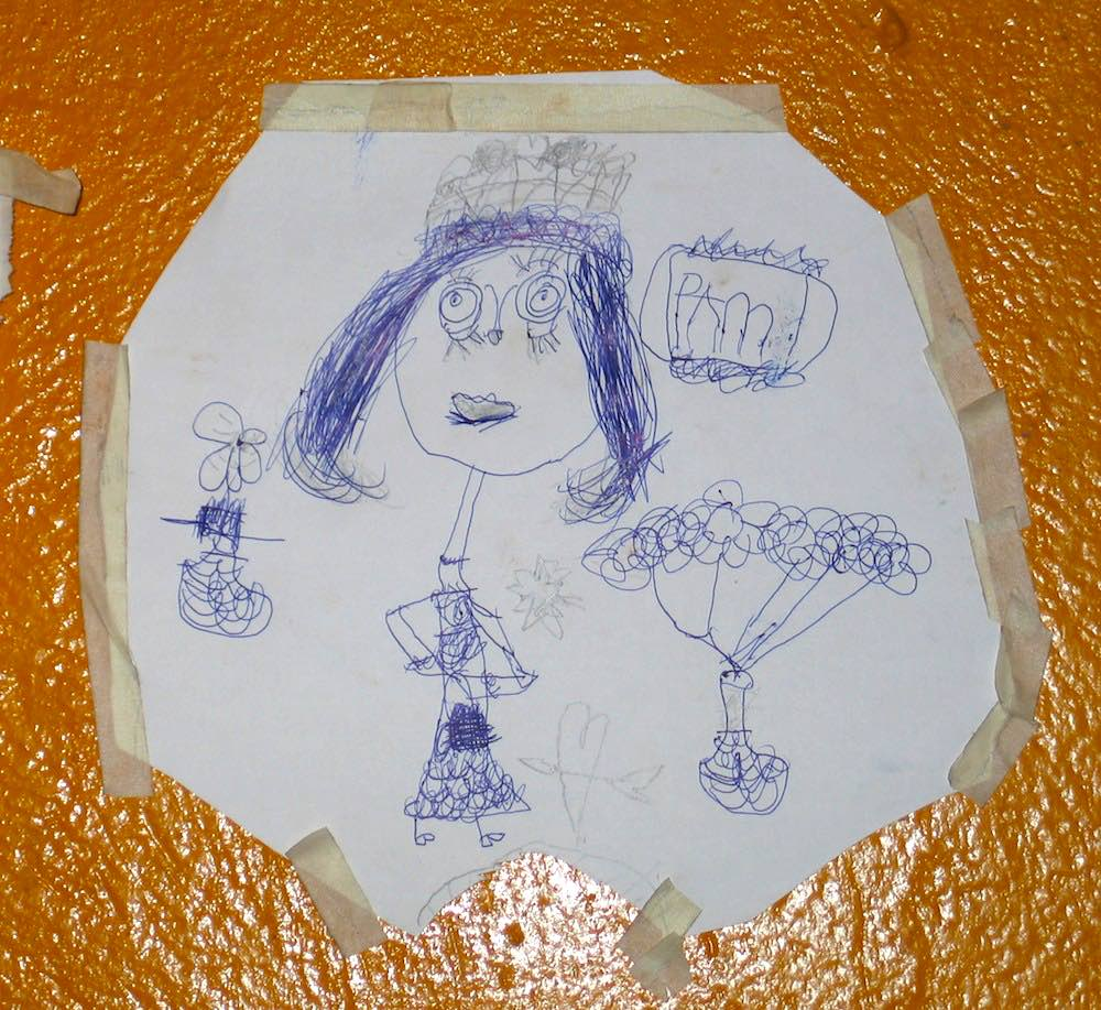 Enya's drawing of her mom