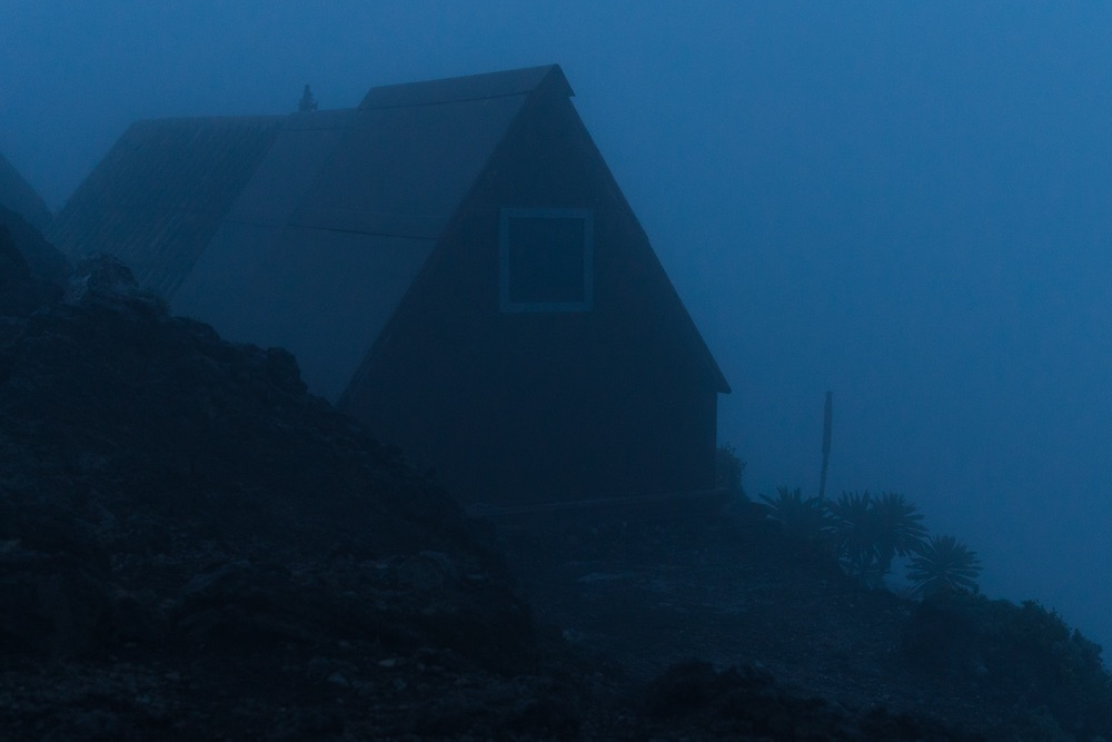 Hut for a Nyiragongo overnight