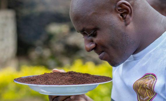 Julius Wetala of Mountain Gorilla Coffee Tours; photo by Jiro Ose