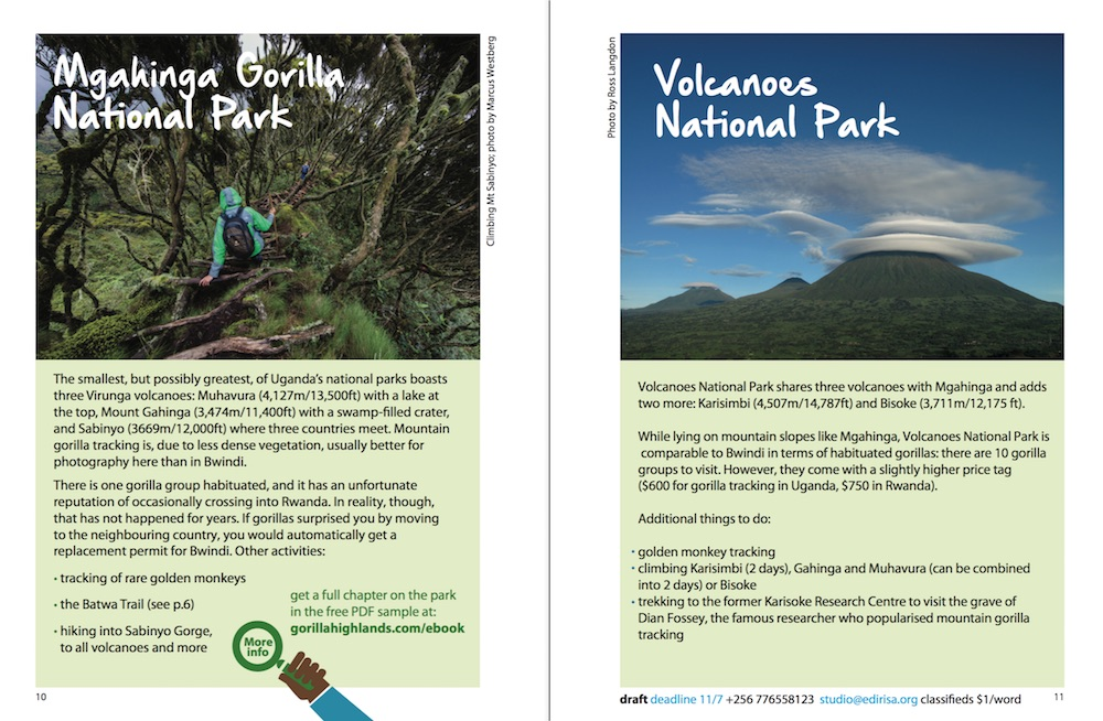 Pocket guide with rwanda on the way gorilla highlands pocket guide draft pages 10 11 fandeluxe Images
