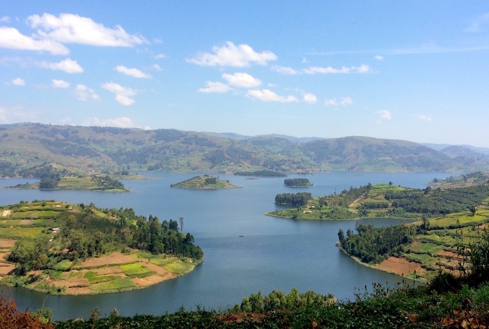 Views towards the north of Lake Bunyonyi; photo by Madison Jay