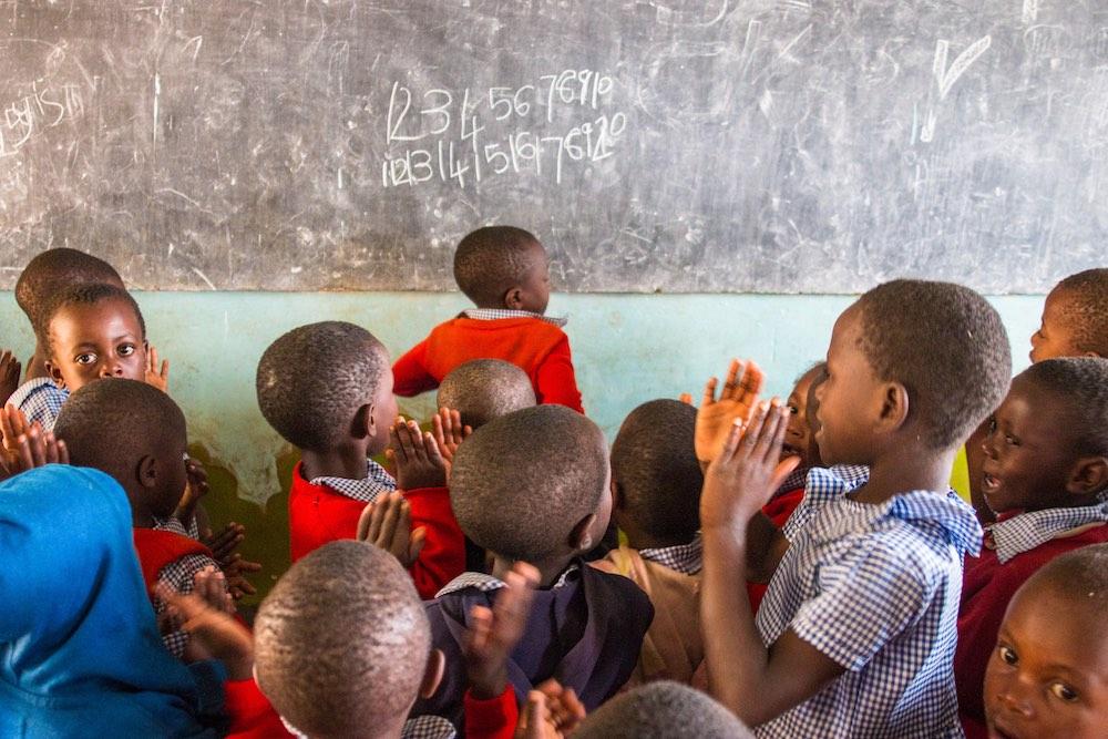Children at Edirisa Nursery School in Kyabahinga; photo by Stefano Barazzetta