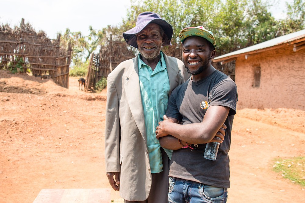 Enoch Arinaitwe and Mr Jeremiah, a traditional healer; photo by Stefano Barazzetta