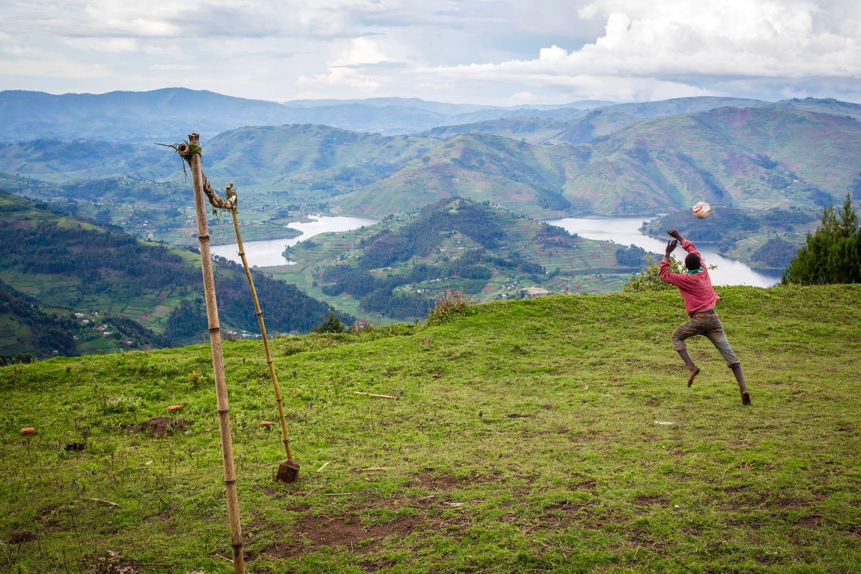 Mountain football by Jiro Ose