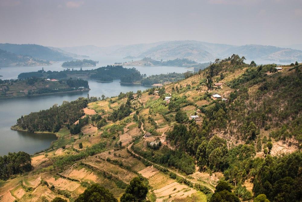 Lake Bunyonyi in the Gorilla Highlands; photo by Stefano Barazzetta