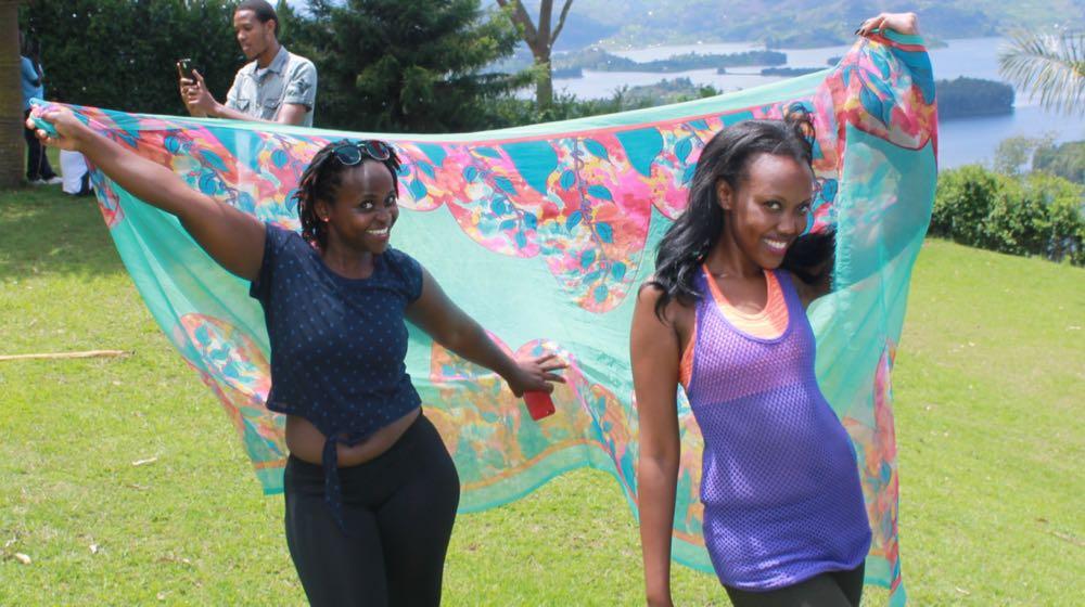 Isabelle Lydia Masozera proudly showcasing her Rwandan side; photo by Enock Luyonza