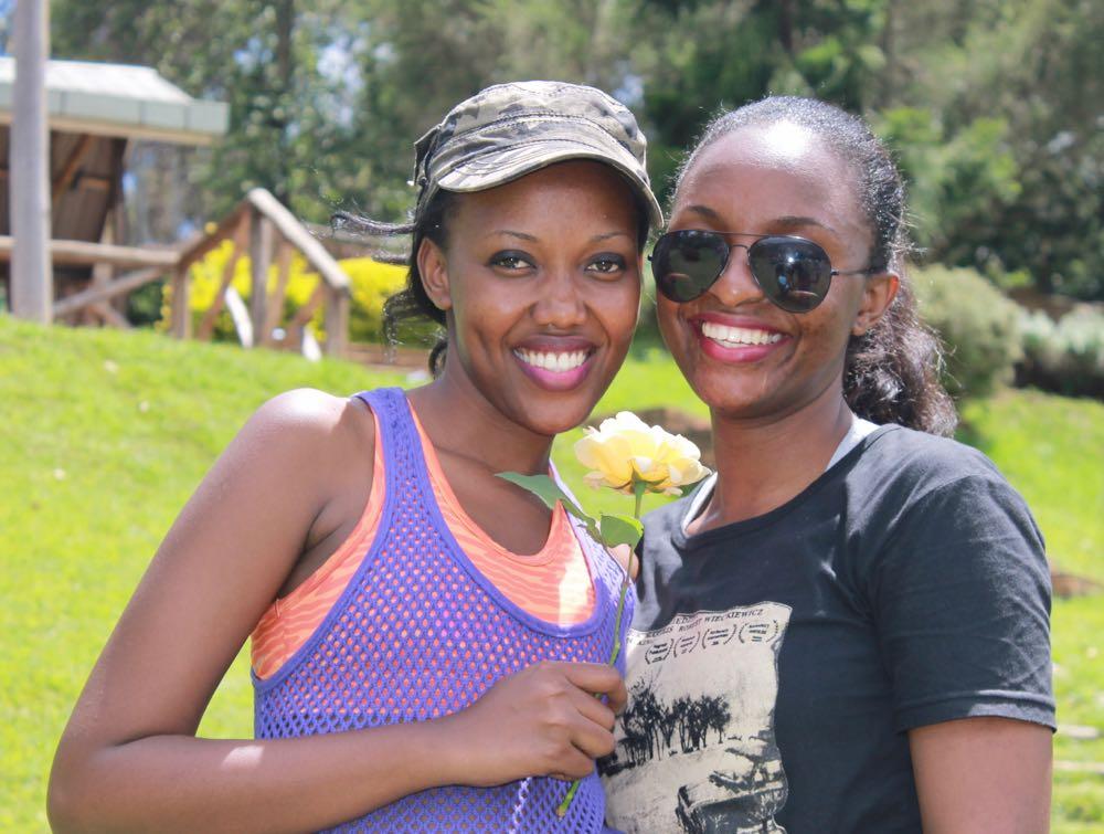 Isabelle Lydia Masozera with Justine Natukunda at Arcadia Cottages; photo by Enock Luyonza