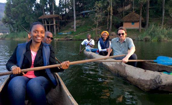Kigali team on Bunyonyi; photo by Yakub Ibrahim