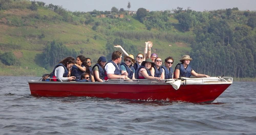 Boat transport on Lake Mutanda; photo by Naomi Richards