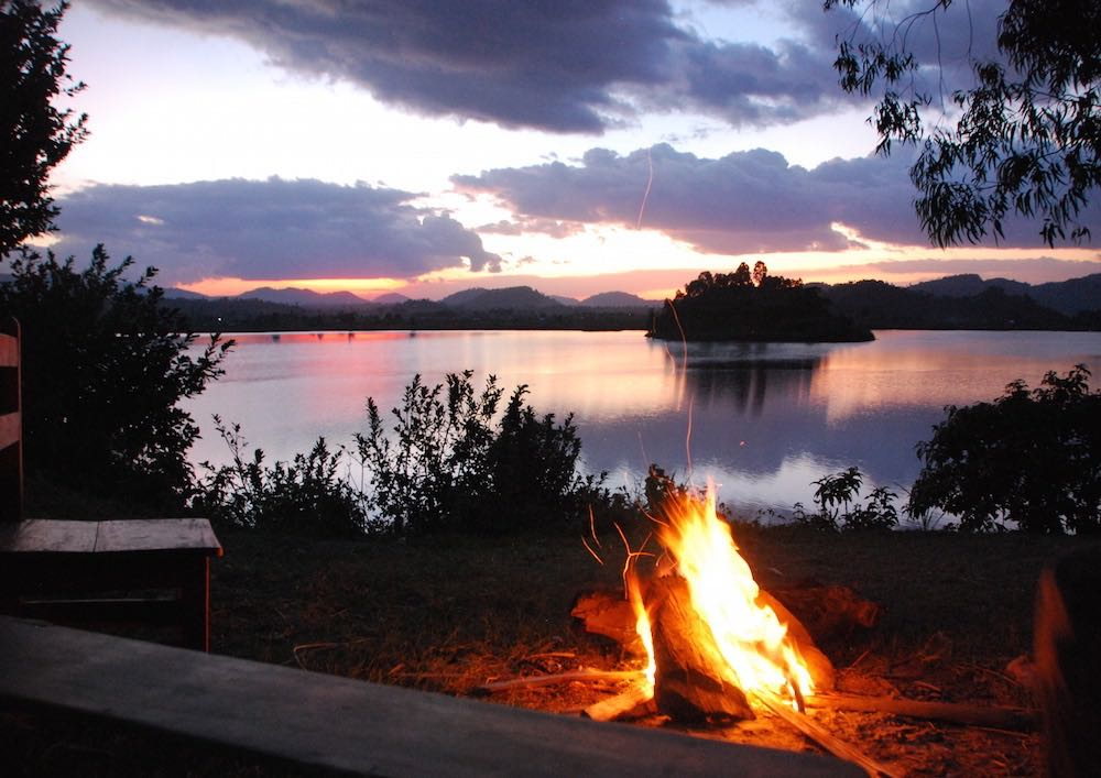 Campsite at Lake Kayumbu; photo by Henriette Faye-Schjøll
