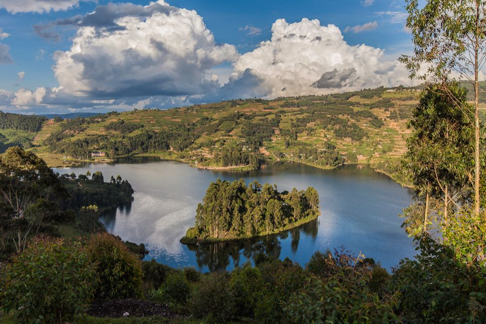 Lake Bunyonyi vista; photo by Marcus Westberg