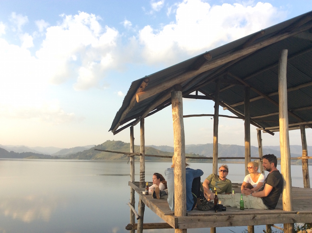 Relaxation at Mutanda Island Lodge; photo by Miha Logar